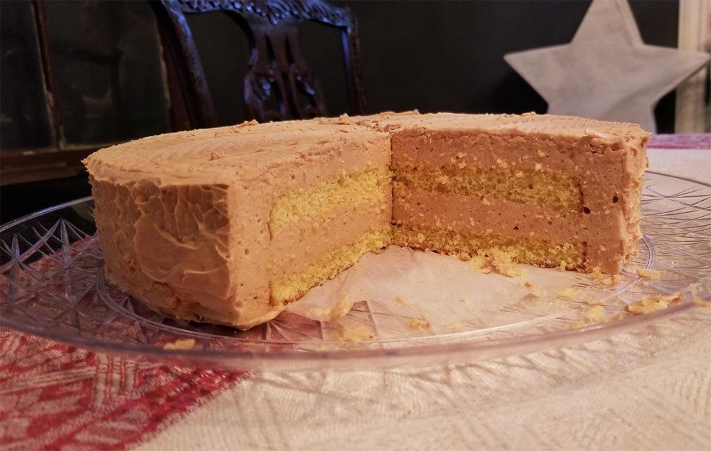 Торт-суфле «Солёная карамель»